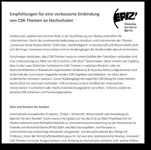 Empfehlungen CSR Implementierung Hochschulen 2015-12-03