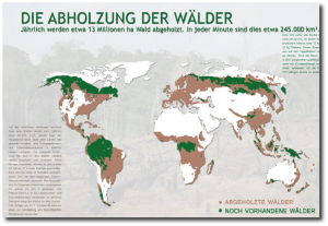 Karte Abholzung Waelder