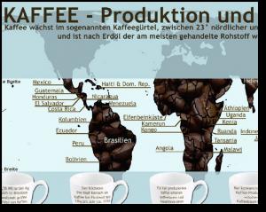 Karte Kaffeeproduktion