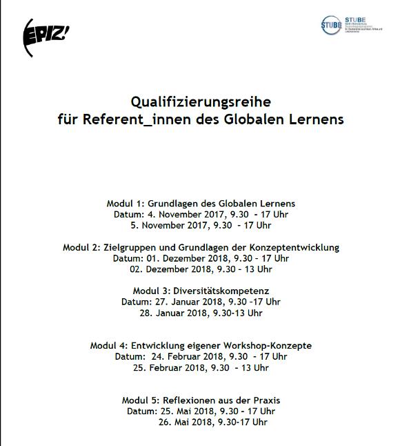Qualifizierungsreihe Globales Lernen