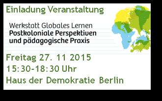 Veranstaltung GL und postkoloniale Perspektive