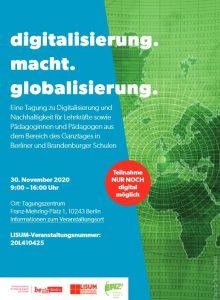 Flyer für die Veranstaltung digitalisierung.macht.globalisierung
